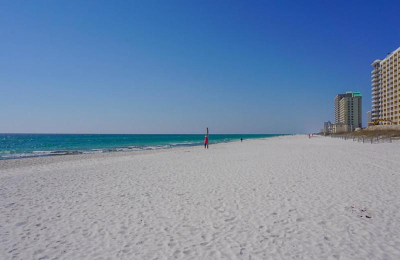 Beach at Paradise Isle Resort.