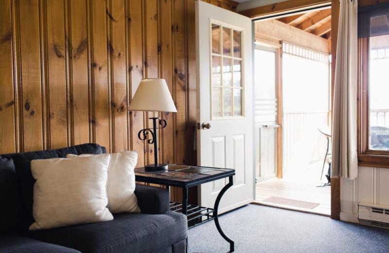 Cottage living room at Sebasco Harbor Resort.