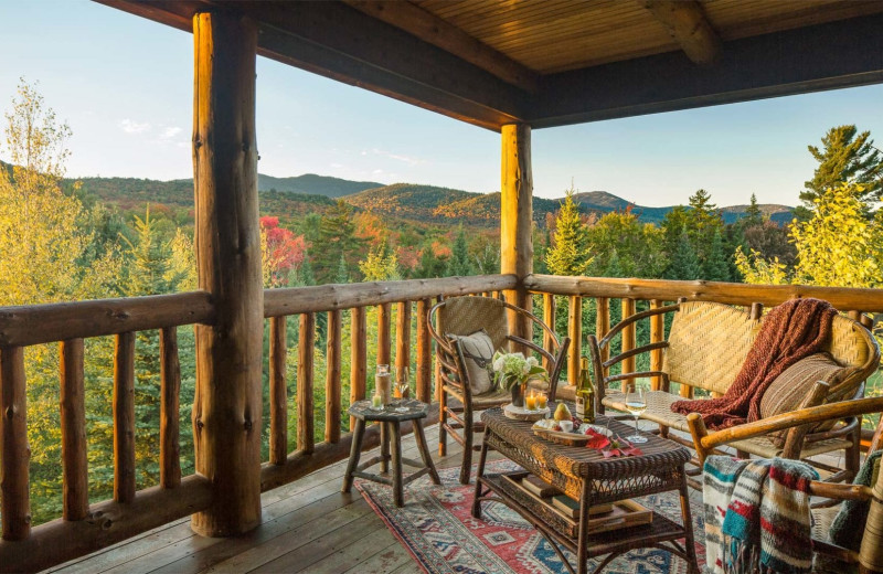 Guest balcony at The Whiteface Lodge.