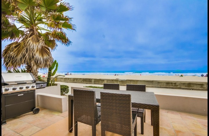 Rental patio at Surf Style Vacation Homes.