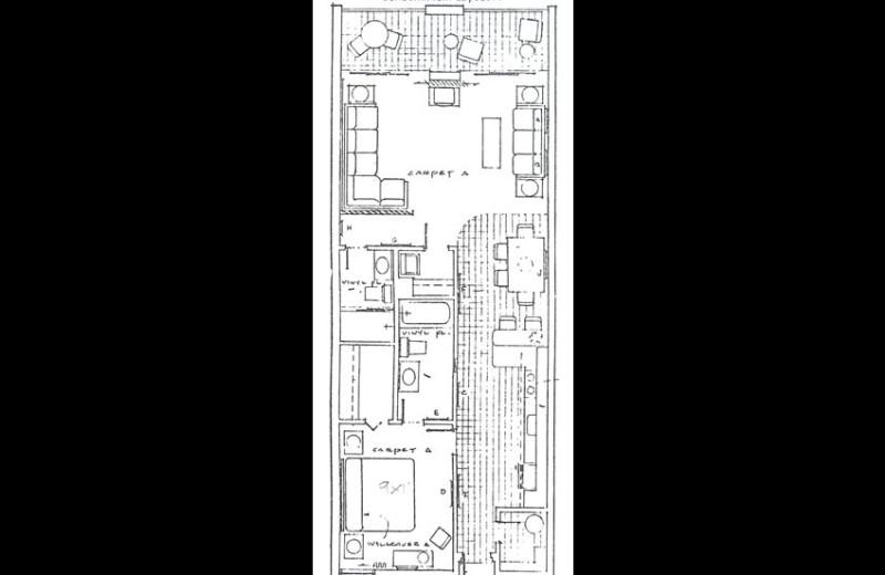Condo layout at Sunrise Bay Resort & Club Condominium.