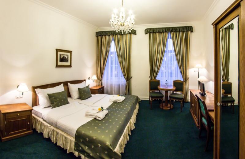 Guest room at Hotel Dvorak.