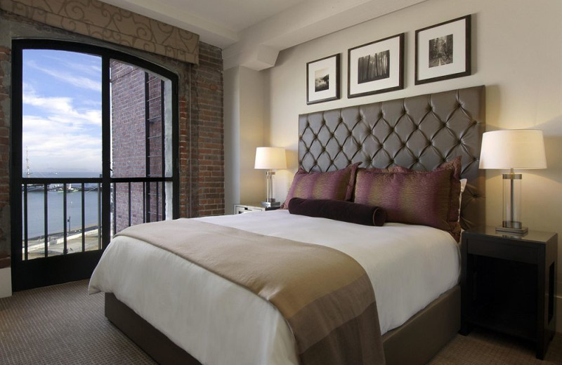 Guest room at The Fairmont Ghirardelli Square.