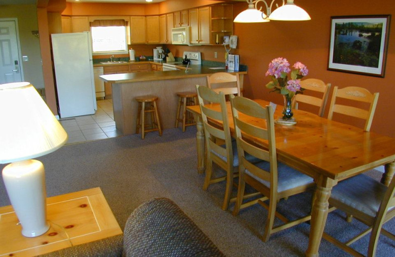 Rental interior at Lake Placid Accommodations.