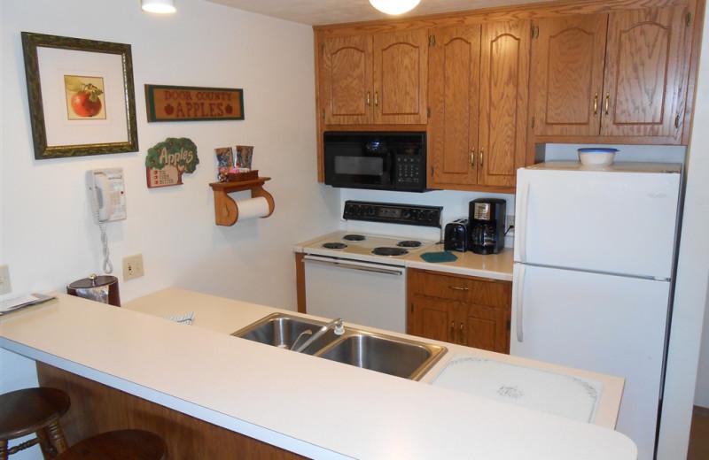 Guest kitchen at Pheasant Park Resort.
