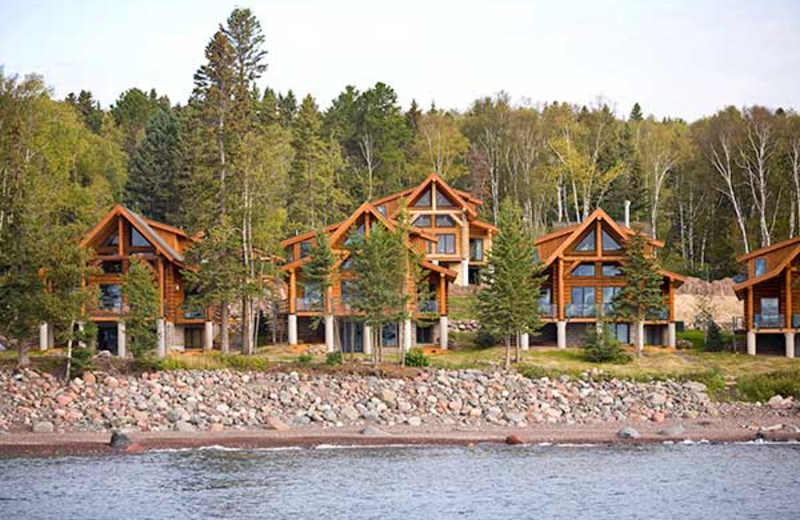 Exterior view of emperance Landing on Lake Superior.