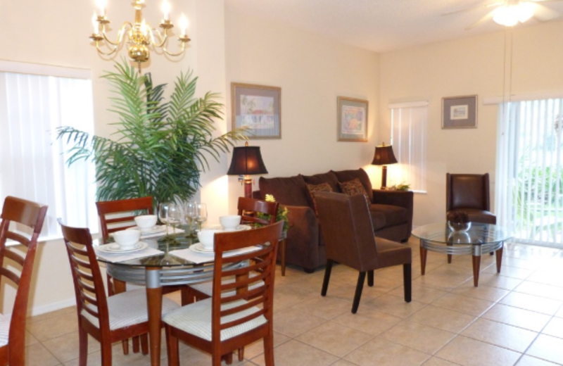 Rental interior at Orlando Premier Vacation Villas.