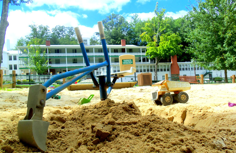Sand pit at Capon Springs.