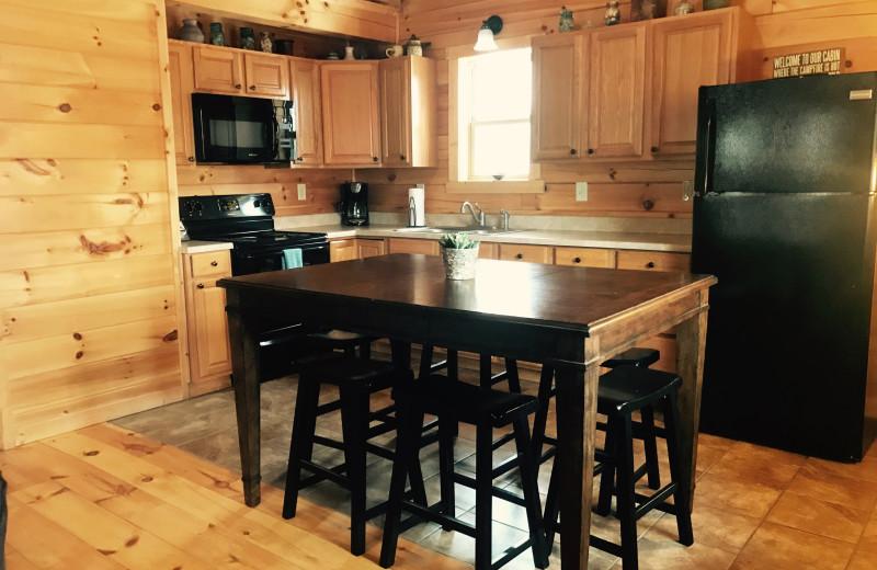 Cabin kitchen at Aspen Ridge.