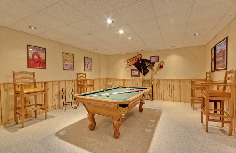 Rental game room at Alpine Ski Properties.