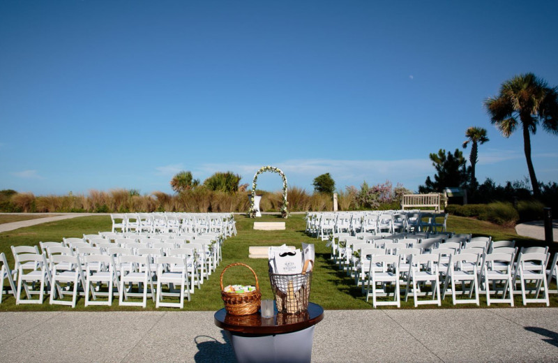 Outdoor wedding venue at Westin Jekyll Island