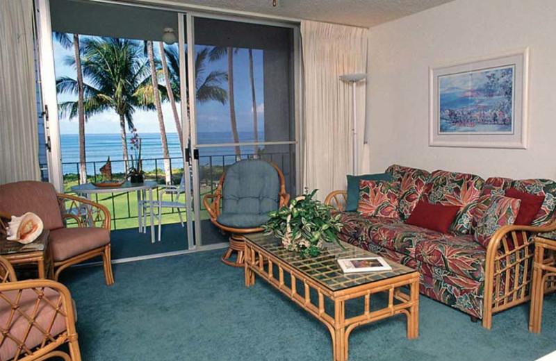 Condo living area at Hale Kai O Kihei
