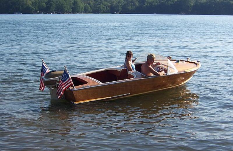Boating at Sunshine Resort.