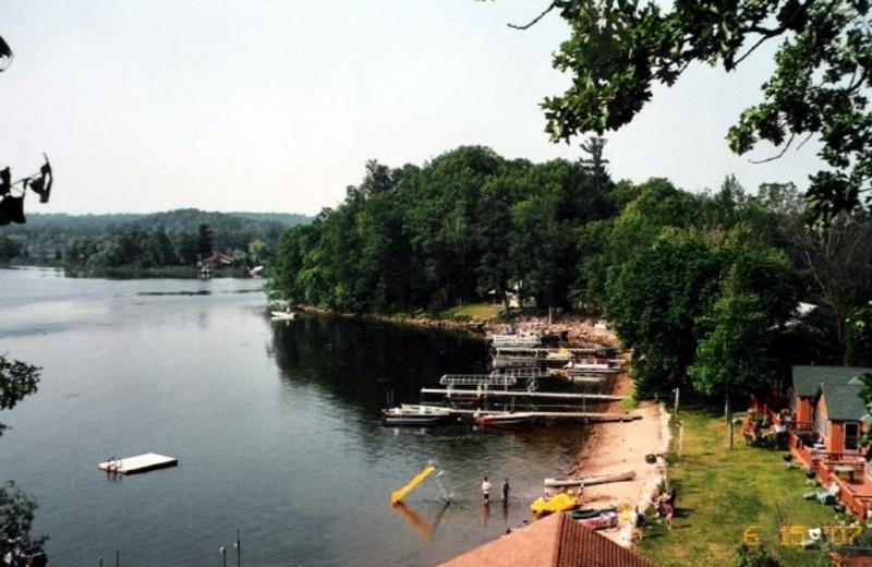 Lake dock at Campfire Bay Resort.