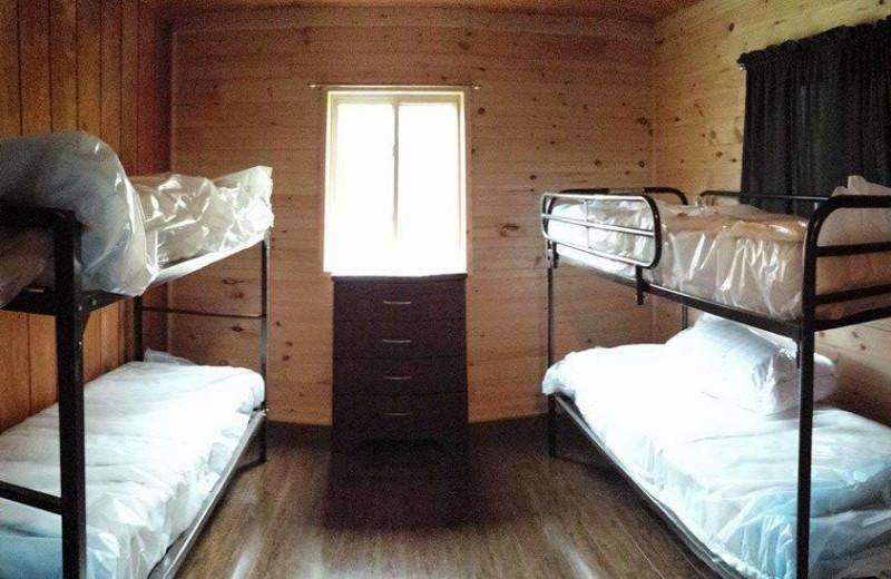 Cabin bunk beds at The Woods At Bear Creek Glamping Resort.