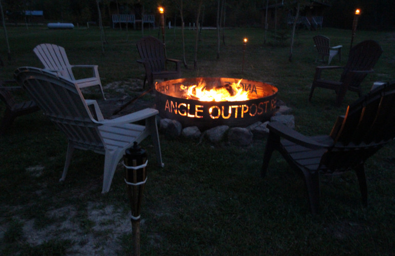 Campfire at Angle Outpost Resort & Conference Center.