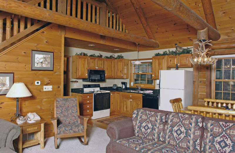 Cabin interior at The Beacons of Minocqua.