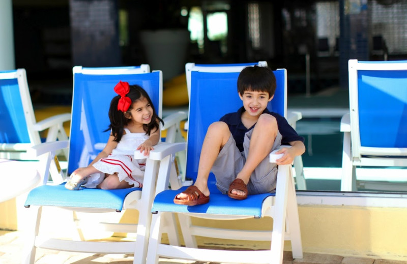 Kids by the pool at Avista Resort.