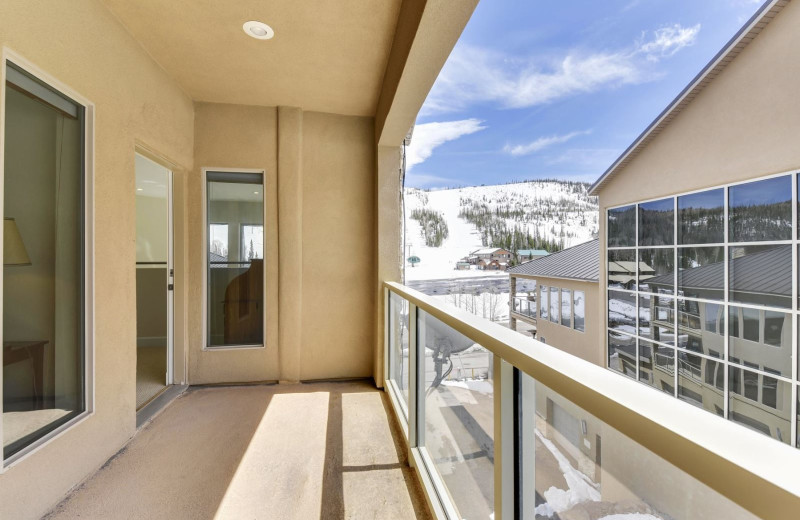 Rental balcony at Family Time Vacation Rentals.