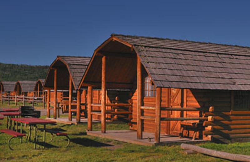 Cabin Exterior at Teton Range Resort
