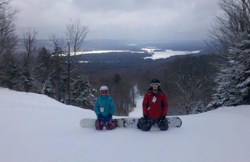 Snowboarding at Tug Hill Resort.