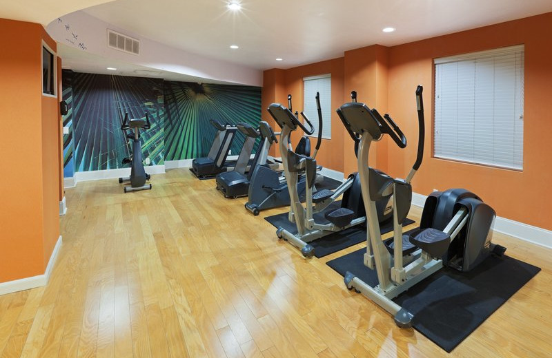 Fitness room at Hotel Indigo.
