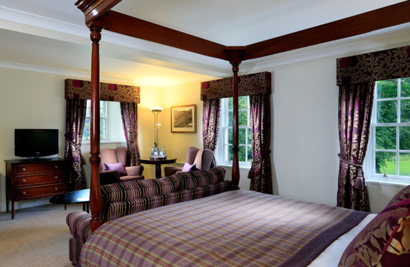 Guest room at Pittodrie House Hotel.