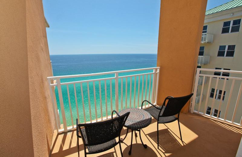 Rental balcony at Sterling Resorts.