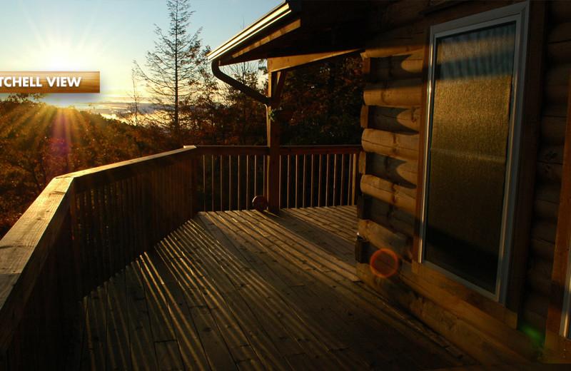 Rental deck at High Rock Rentals.