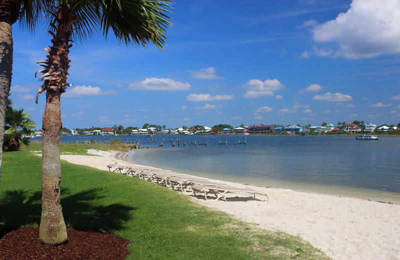 Rental beach at Paradise Gulf Properties.