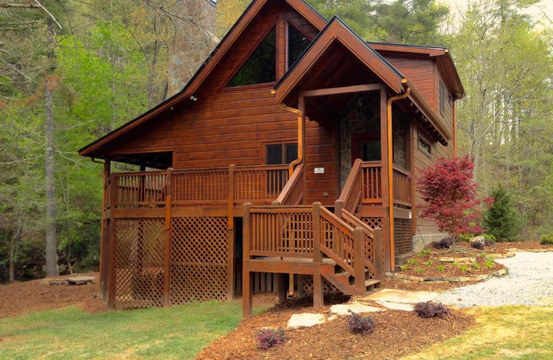Cabin exterior at Cabin Rentals of Georgia.
