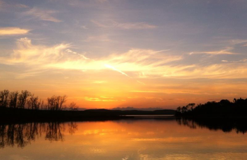 Sunset at Elk Lake Wilderness Resort.