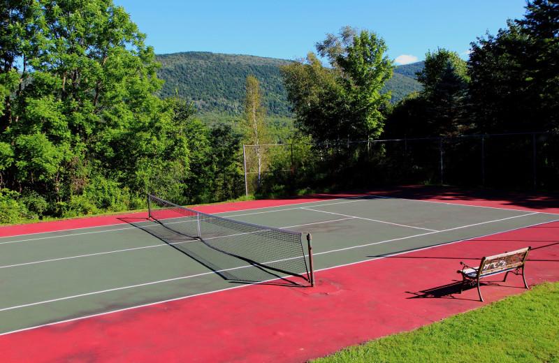 Tennis court at Wilburton Inn.