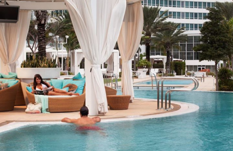 Outdoor pool at Fontainebleau Hotel and Resort.