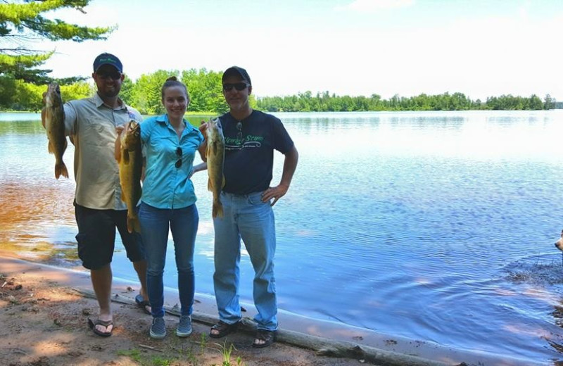Fishing at Golden Fawn Lodge.