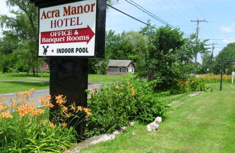 Exterior view of Acra Manor Resort.