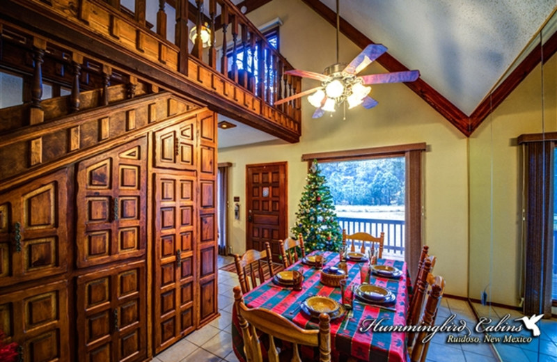 Dining Room at Hummingbird Cabins - Timberline Townhouse Vacation Rental