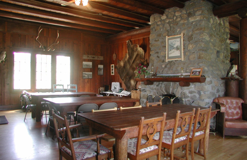 Lodge Dinning/Meeting room at Rising Wolf Ranch.