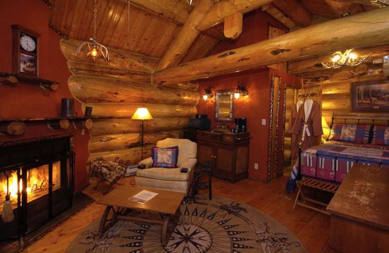 Winter Creek cabin interior at Bar N Ranch.