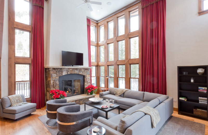 Rental living room at Aspen Luxury Vacation Rentals.