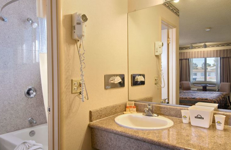 Guest Bathroom at Days Inn Monterey Downtown