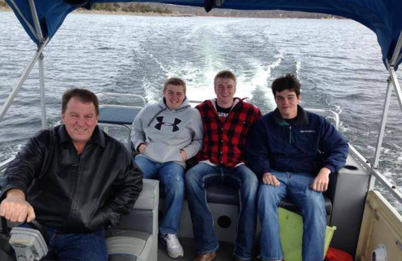 Boating at Lighthouse Lodge Resort.