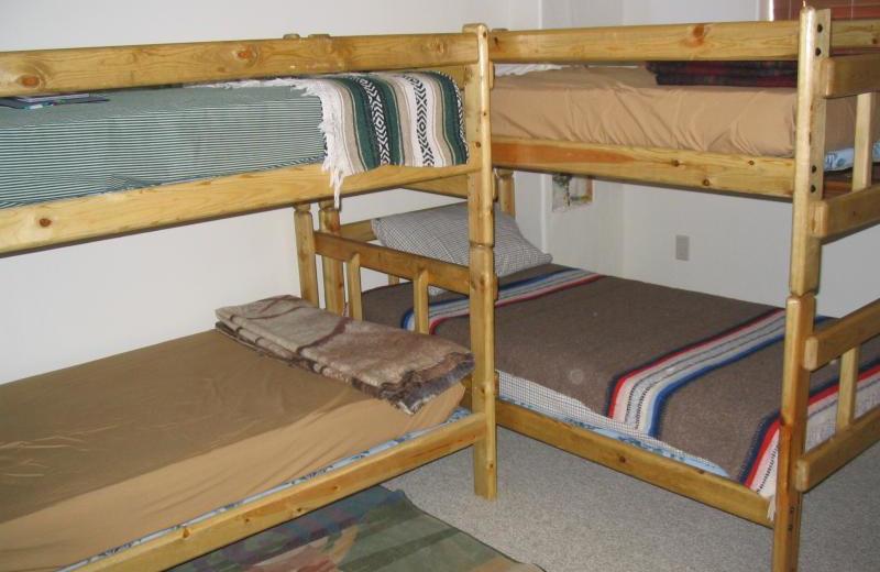 Bunk beds at Lori's Luxury Rentals.