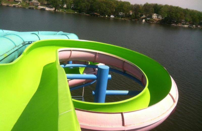 Water slides at Indiana Beach Amusement Resort.