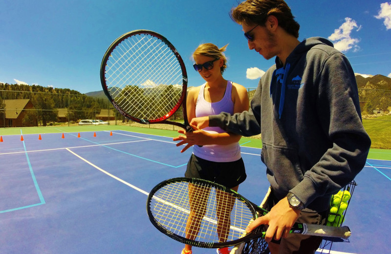 Tennis lessons at Mt. Princeton Hot Springs Resort.