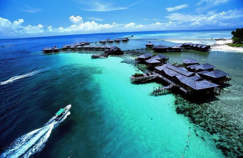 Exterior view of Sipadan Water Village Resort.