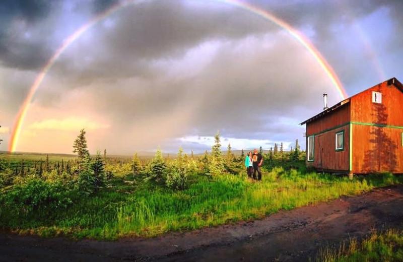 Cabin exterior at Alaska Trophy Adventures Lodge.