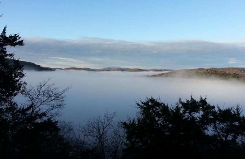 Scenic view at Arkansas White River Cabins.