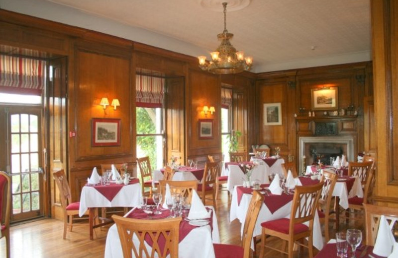 Dining at Knocklofty House.