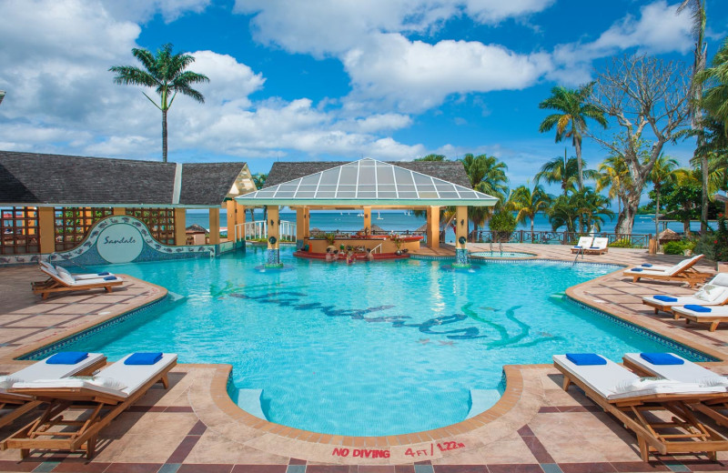 Outdoor pool at Sandals Negril Beach Resort and Spa.